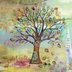 'Autumn Tree' 2012 Mixed Media prints available http://www.etsy.com/shop/fromvictoryroad?section_id=10724179