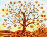 'Autumn' watercolor 2012 prints available http://www.etsy.com/shop/fromvictoryroad?section_id=10724179