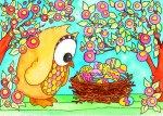 'Easter Surprise' watercolor 2012 prints available http://www.etsy.com/shop/fromvictoryroad?section_id=10724179