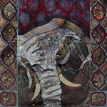 'Elephant' Citra Solv mixed media 2013 prints available http://www.etsy.com/shop/fromvictoryroad?section_id=10724179