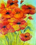 """Field of Poppies"" watercolor prints available https://www.etsy.com/listing/164596000/field-of-poppies-11-x-14-watercolor"