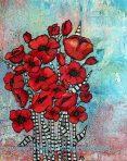 """""""Poppy Whimsy III"""" acrylic"""