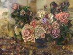 Roses dans la rêverie watermark