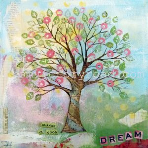 'Spring Tree' 2012 Mixed Media prints available http://www.etsy.com/shop/fromvictoryroad?section_id=10724179