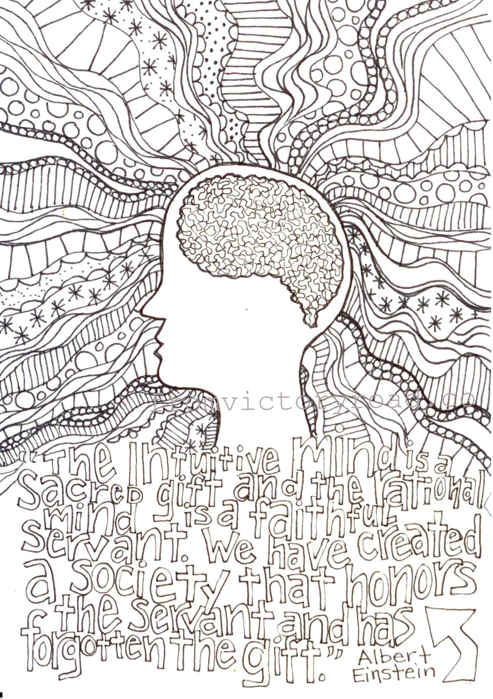 Intricate Owl Coloring Pages One of the pages from my
