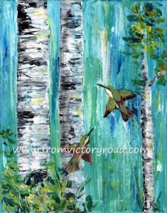 HUMMINGBIRDS WATERMARK