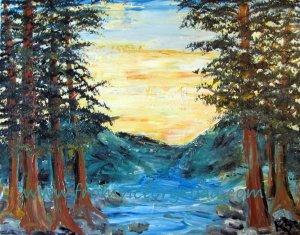 mountain lake watermark