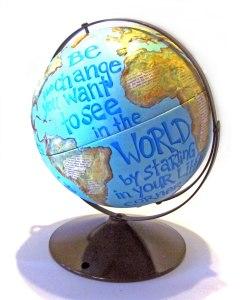 Globe painted