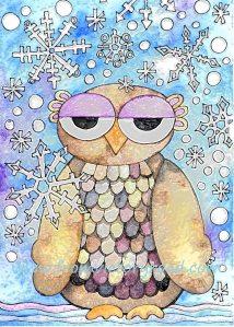 Winter Owl watermark