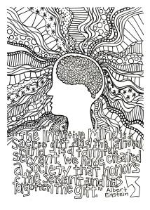 Einstiens intuitive mind 5 x 7