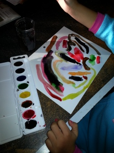 Khloe painting