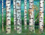 """Aspens in Teal"" acrylic 2014"