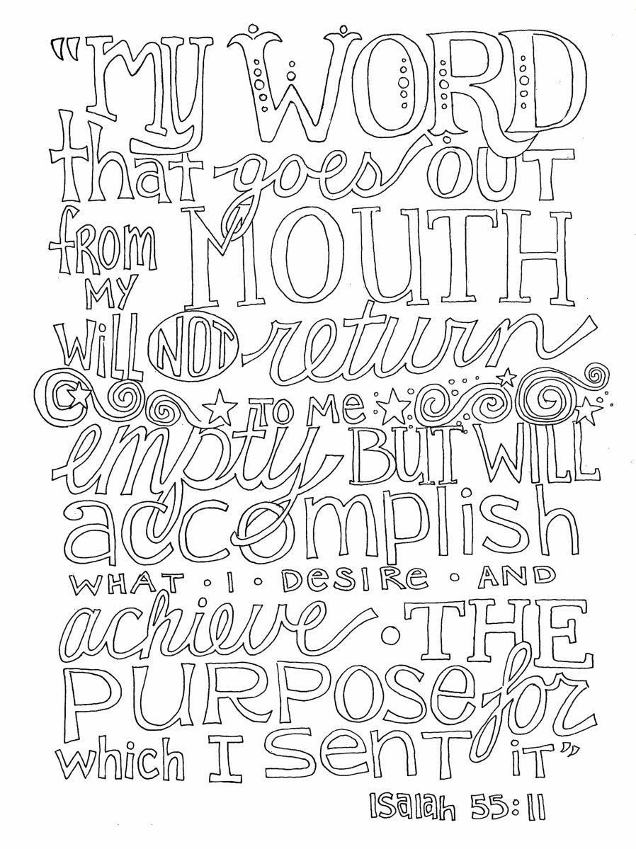 Free Word Art Coloring Page from