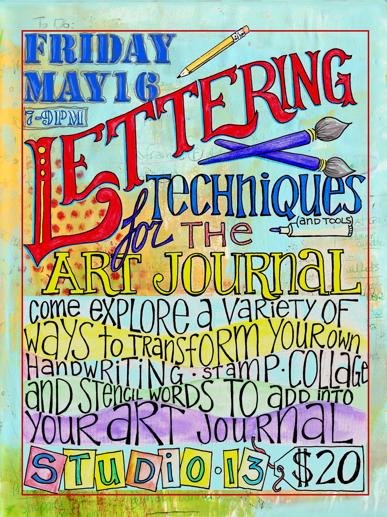 Classroom Design Journal Articles ~ Art journal class lettering from victory road