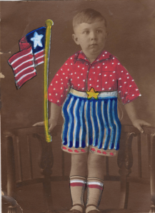 boy with flag