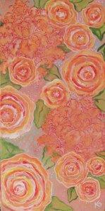 coral floral watermark