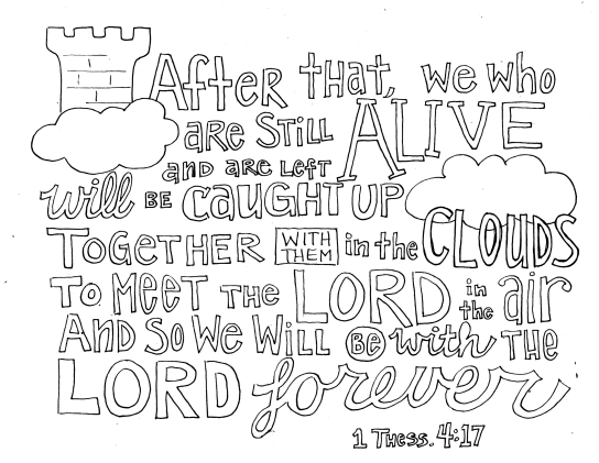 Sunday Doodles – 1 Thess. 4:17