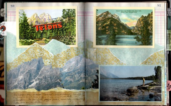 Tetons journal page