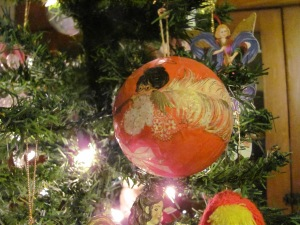 waxed Christmas ball