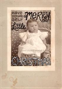 merry little christmas watermark
