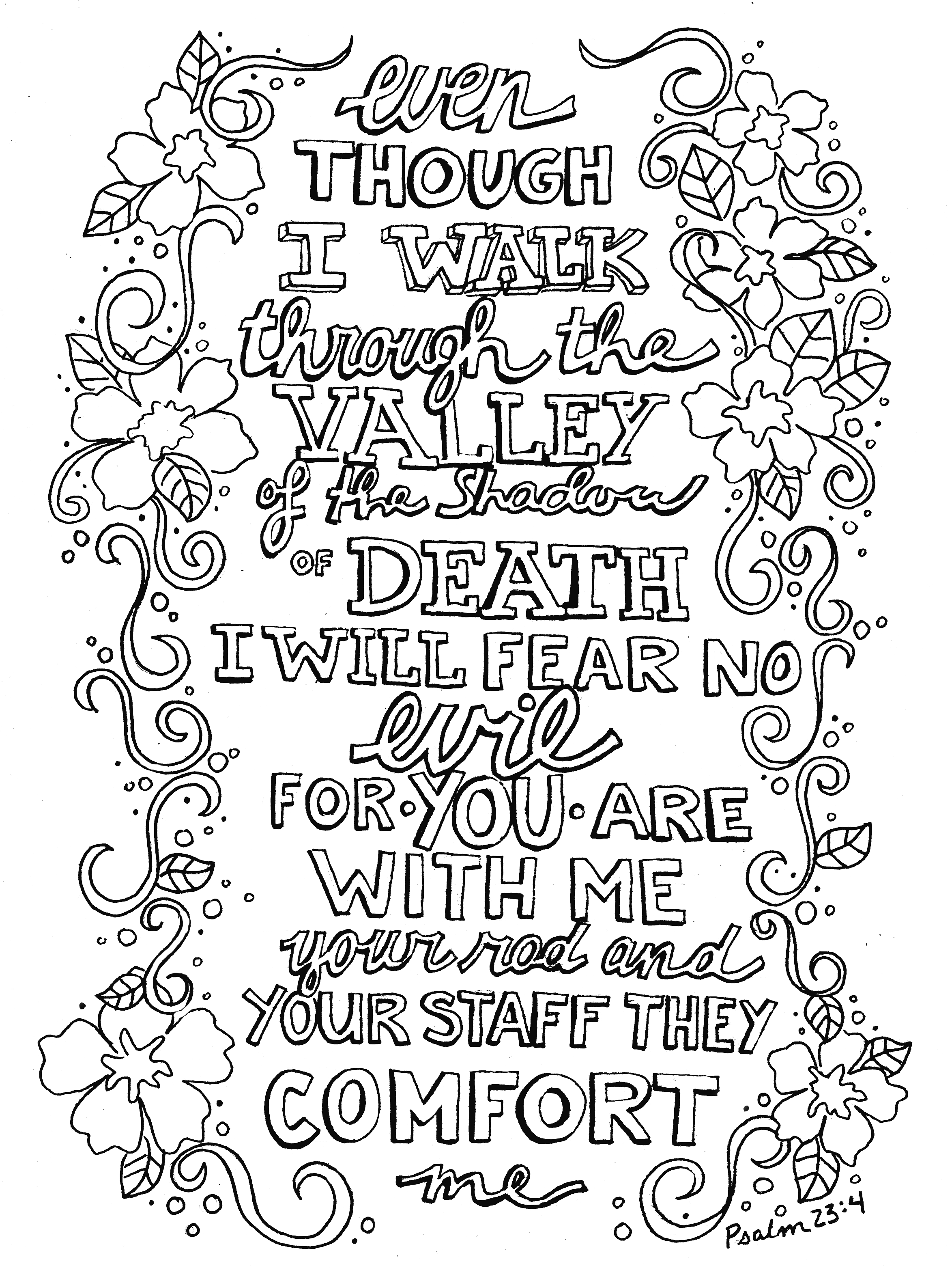 Scripture Doodle From Victory Road Coloring Pages With Bible Verses