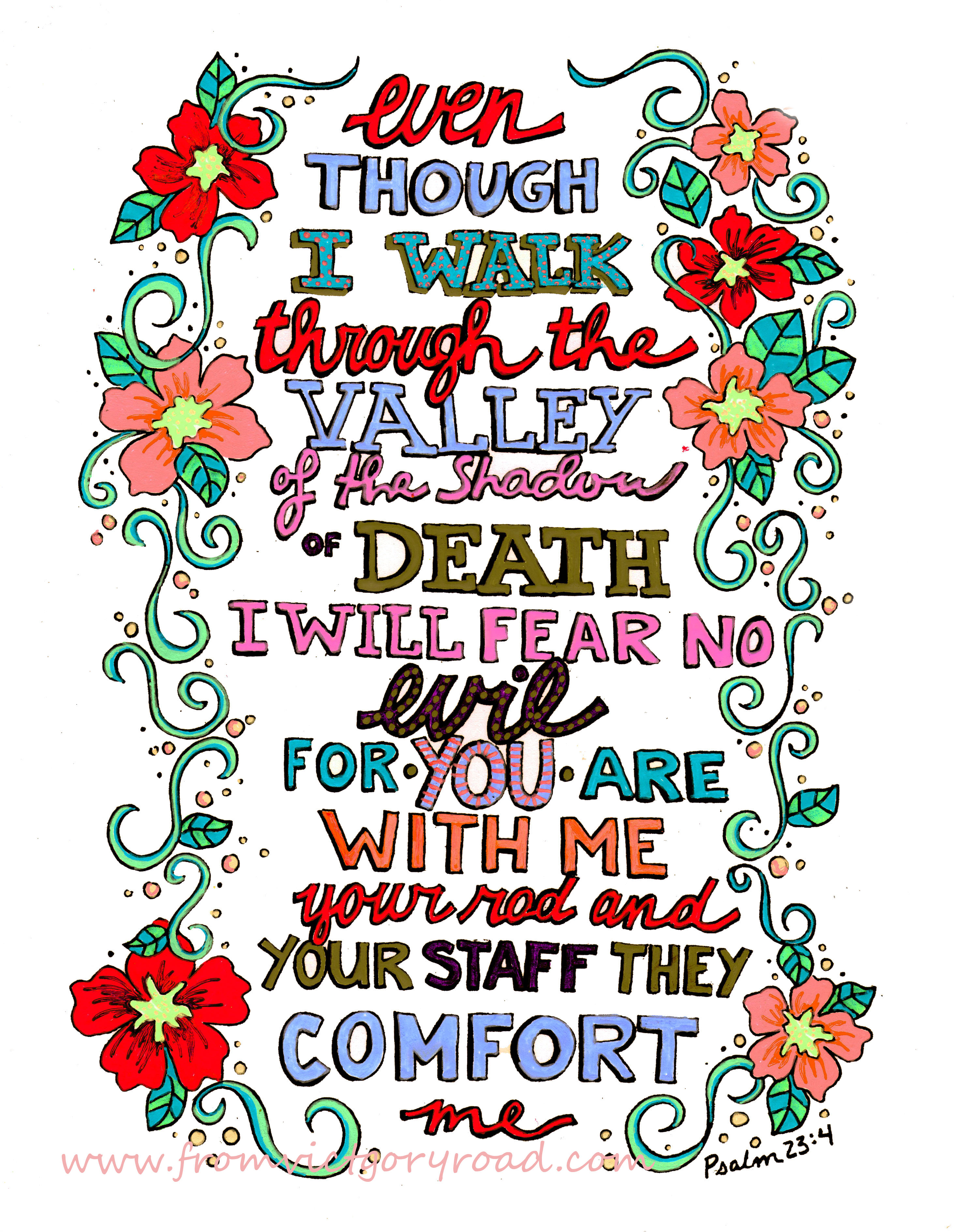 Psalm 234 Sunday Doodle From Victory Road