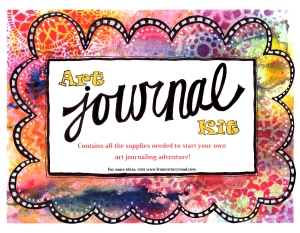 art journal label