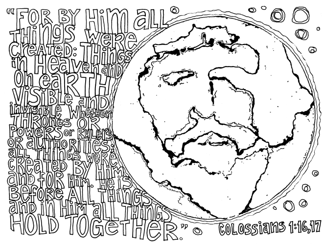 Sunday Scripture Doodle Coloring Page