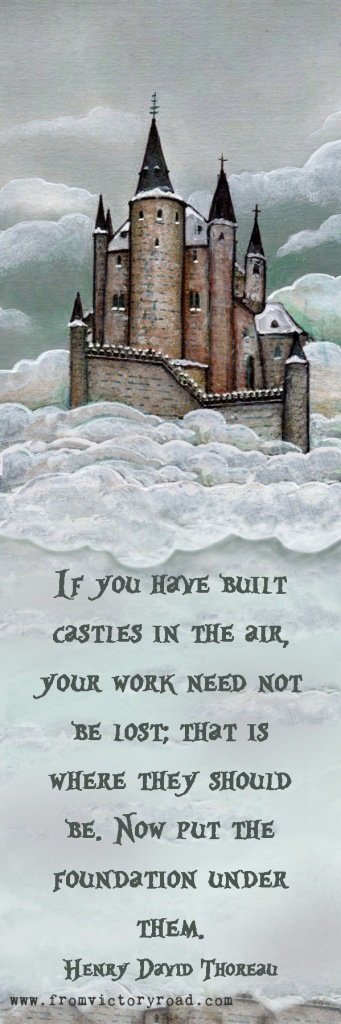 Castles in the air bookmark watermark