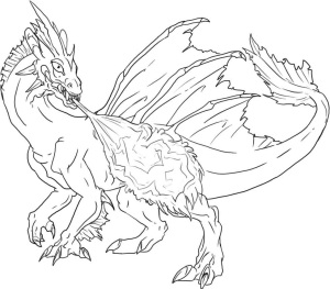 Coloring-Pages-Dragon