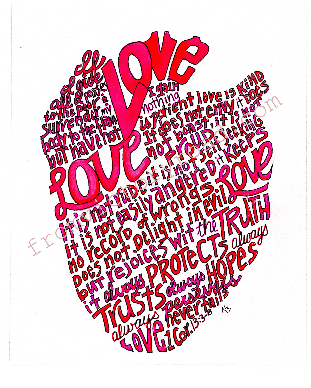 Love never fails watermark