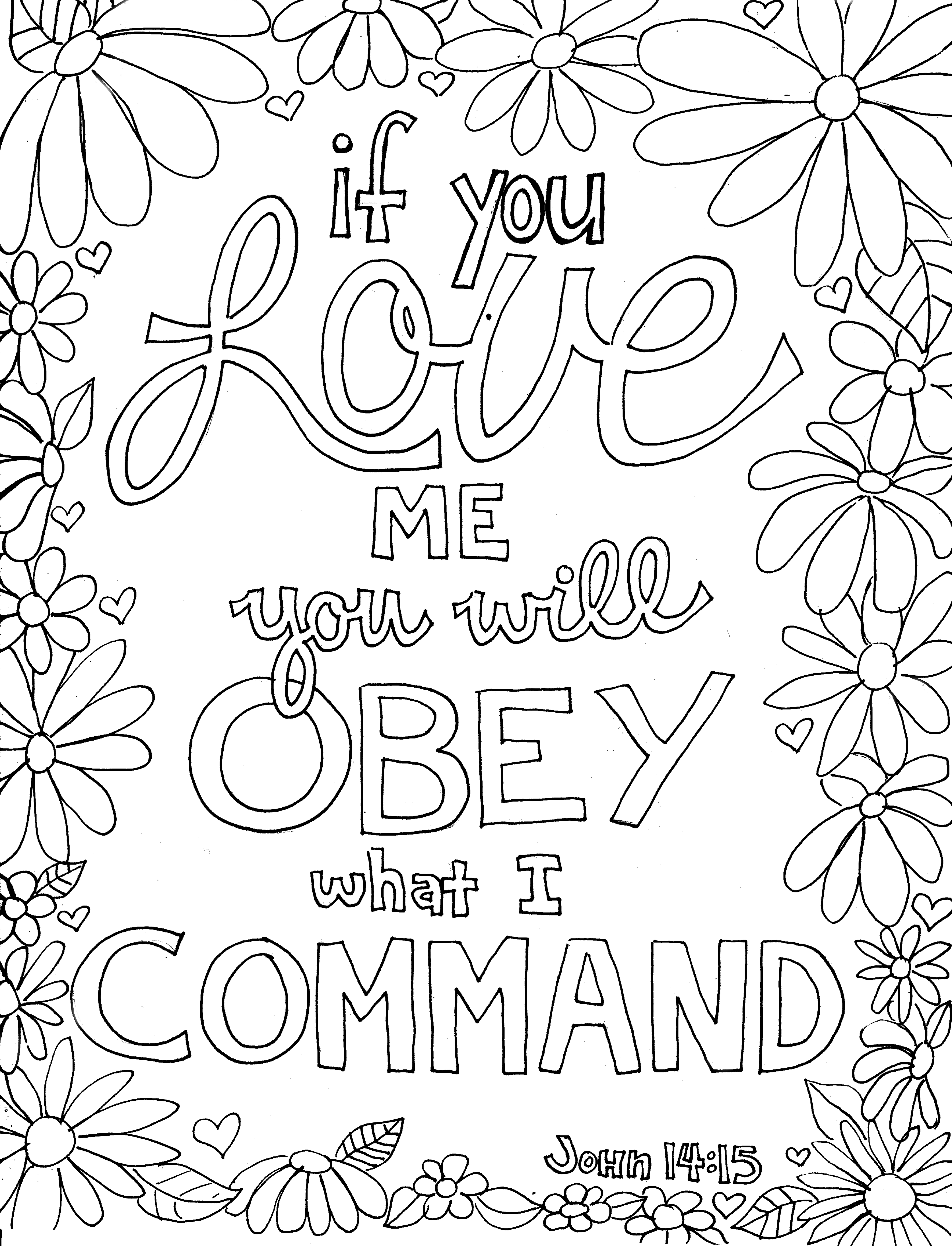 Adult Top Obedience Coloring Page Gallery Images top obey from victory road john 14 15 gallery images
