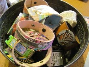 bucket of cuffs
