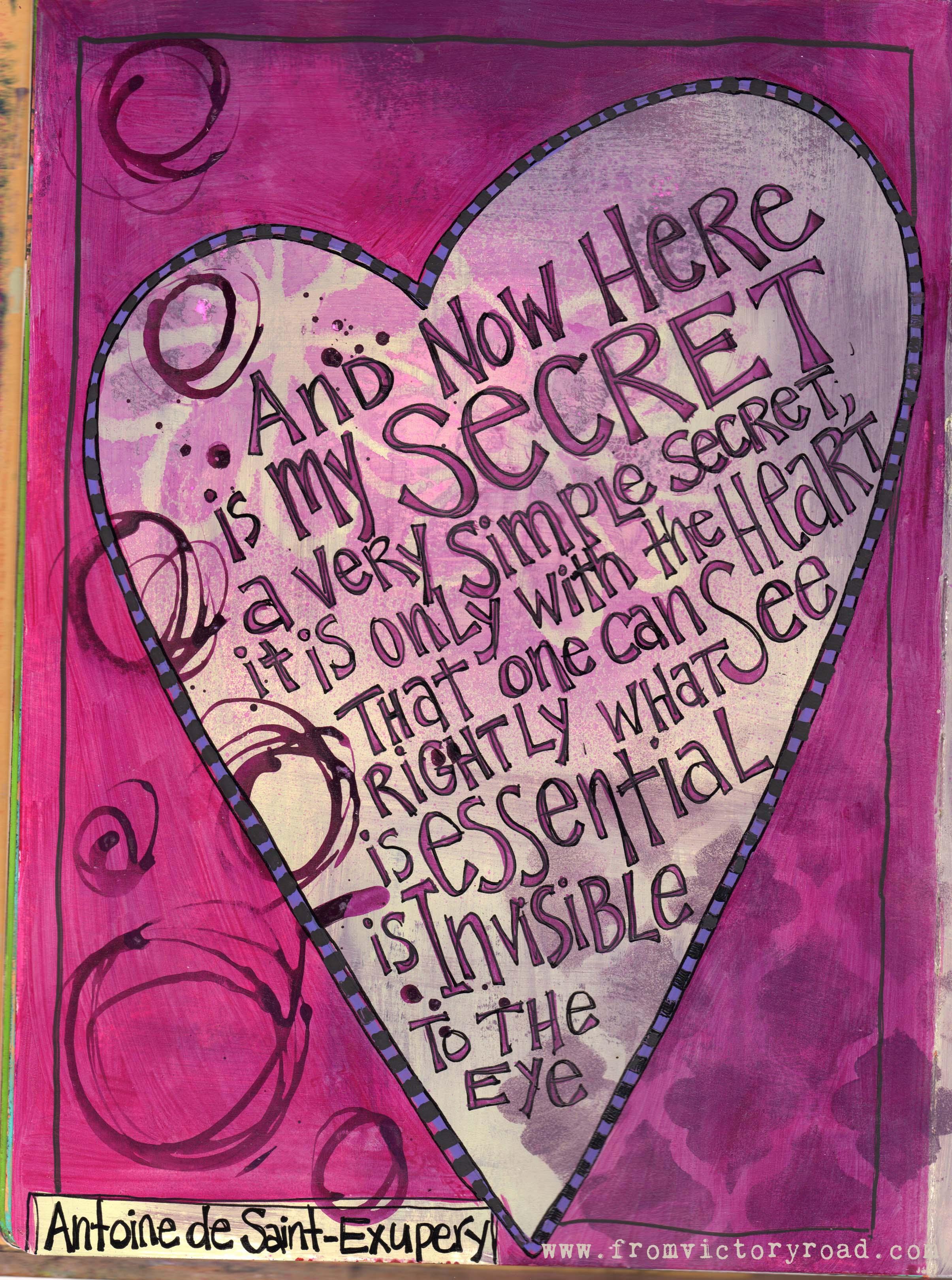 """Here Is My Secret Antoine De Saint Exupery: """"And Now Here Is My Secret…"""""""