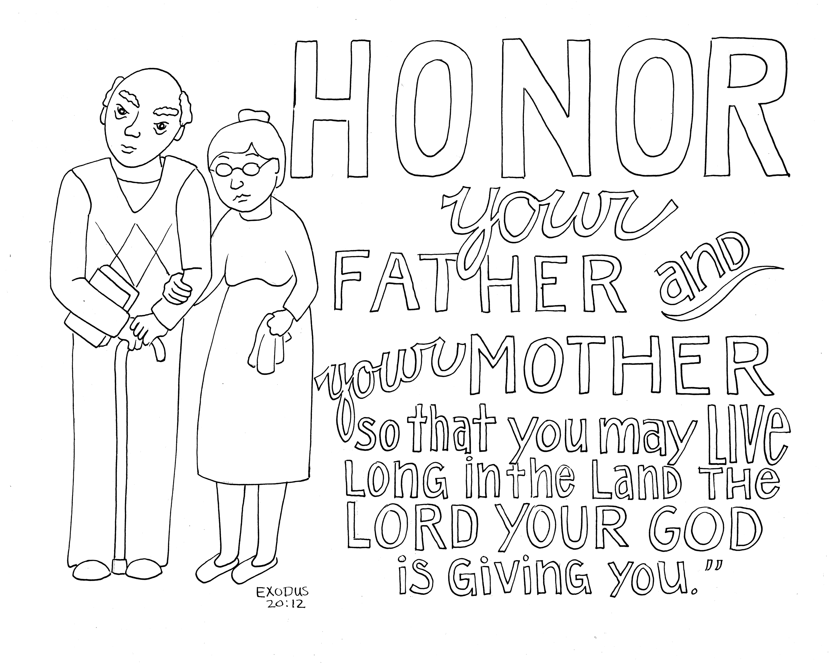 honor your father and mother coloring page honor your father and mother coloring page coloring pages