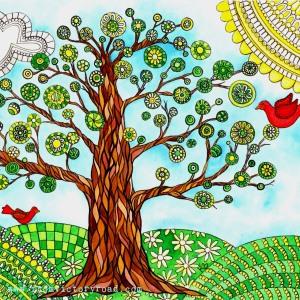 folk art tree watermark