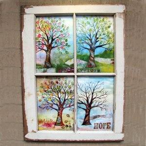 window pane trees for etsy