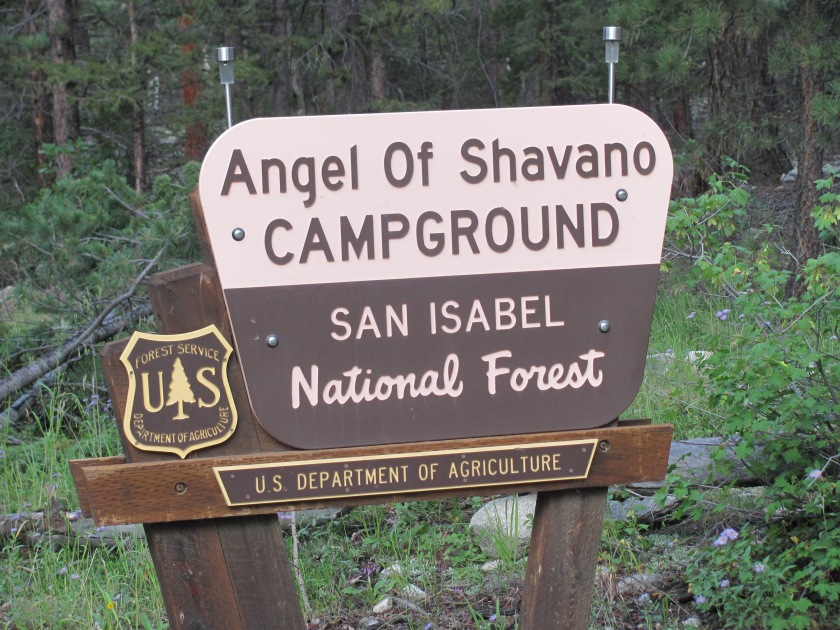 Image result for Angel of Shavano Campground