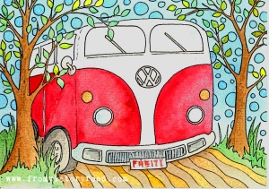 vw camper bus watermark