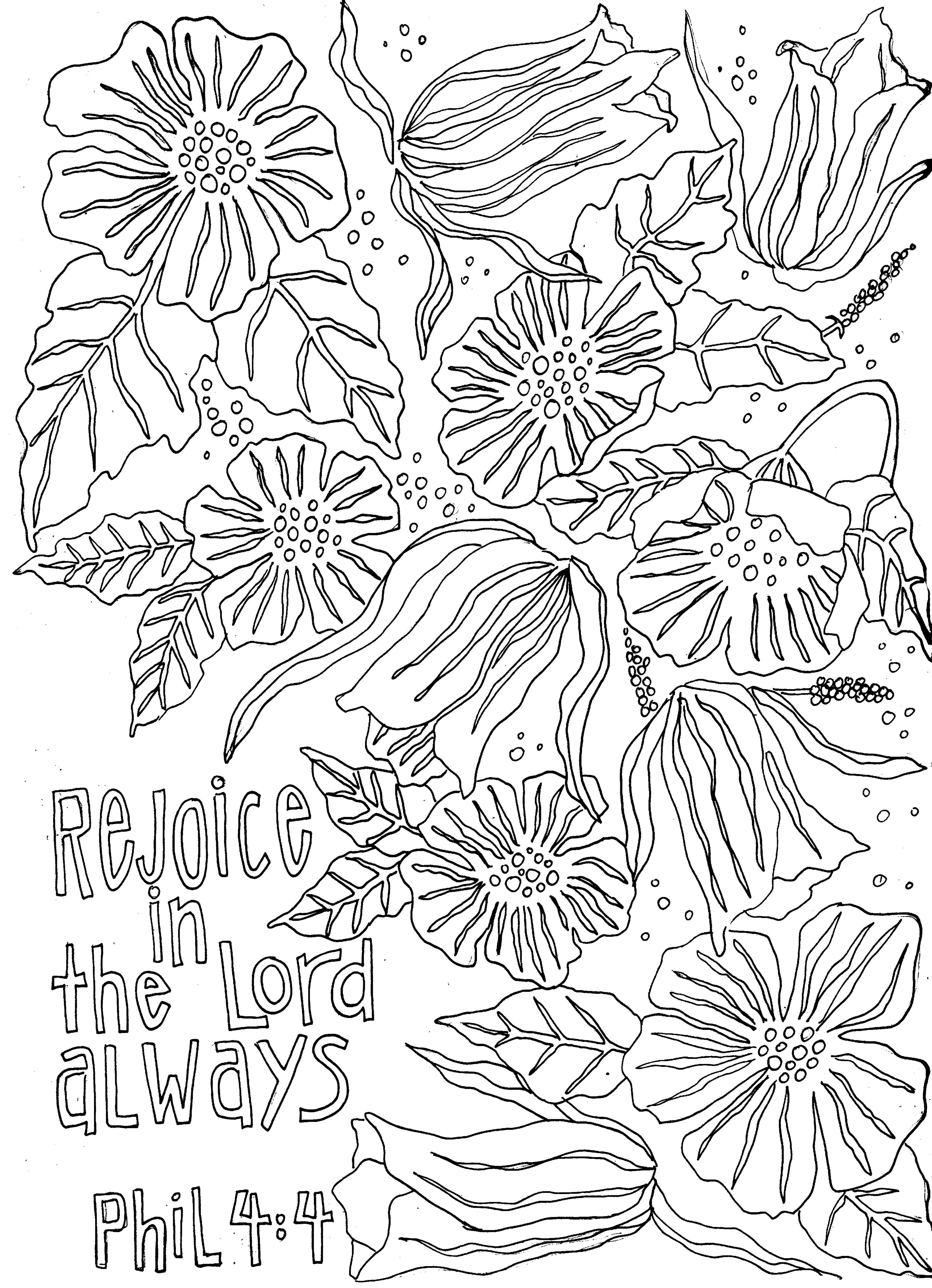 rejoice coloring pages - photo#34