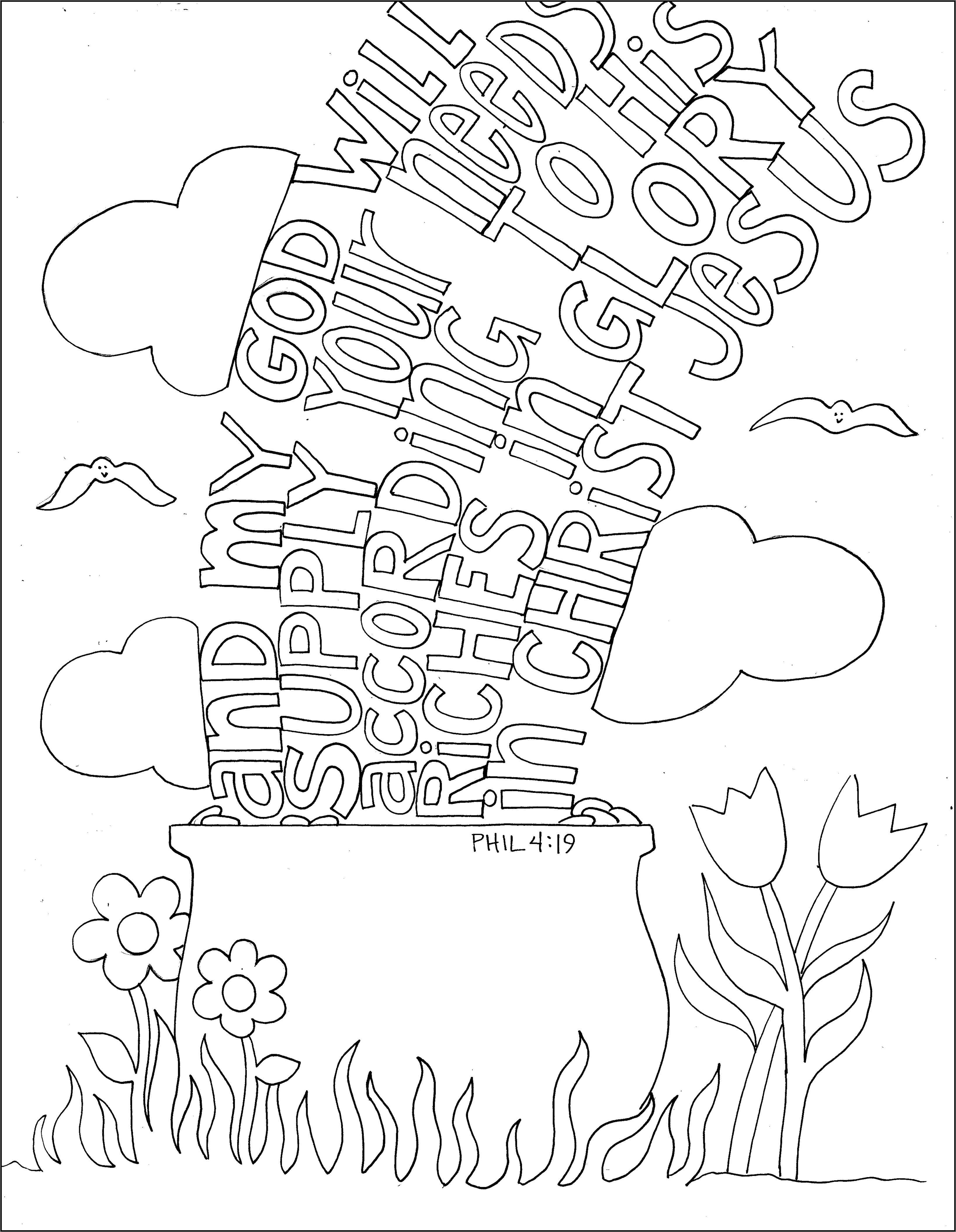 phillippians coloring pages photo29 - Philippians 4 6 Coloring Page