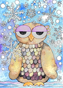Winter Owl plastic wrap