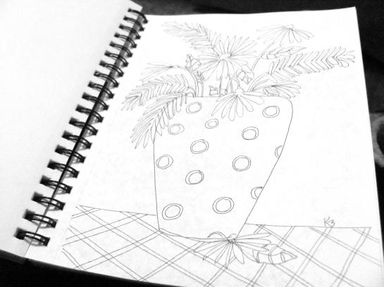 flower sketch 4