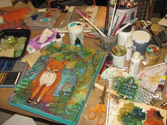 messy worktable