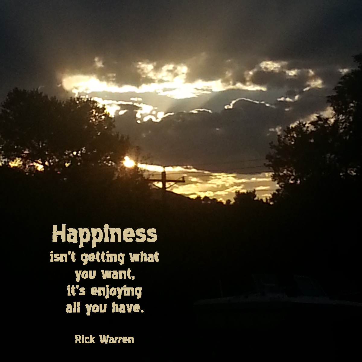 Happiness by Rick Warren