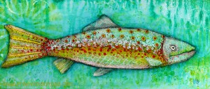 mixed media on the cheap fish watermark
