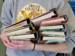 arm full of smash books