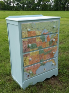 map chest of drawers