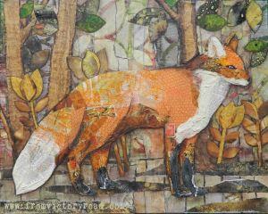 fox on a walk watermark