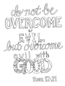 Romans 12:21 Coloring Page